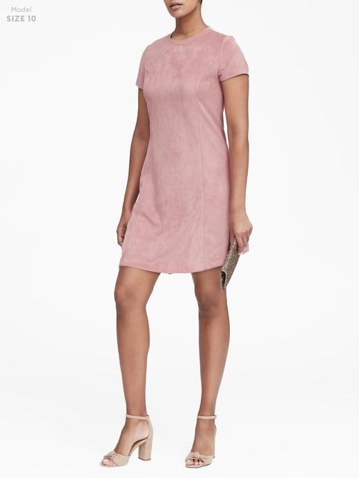 Vegan Süet Mini Elbise