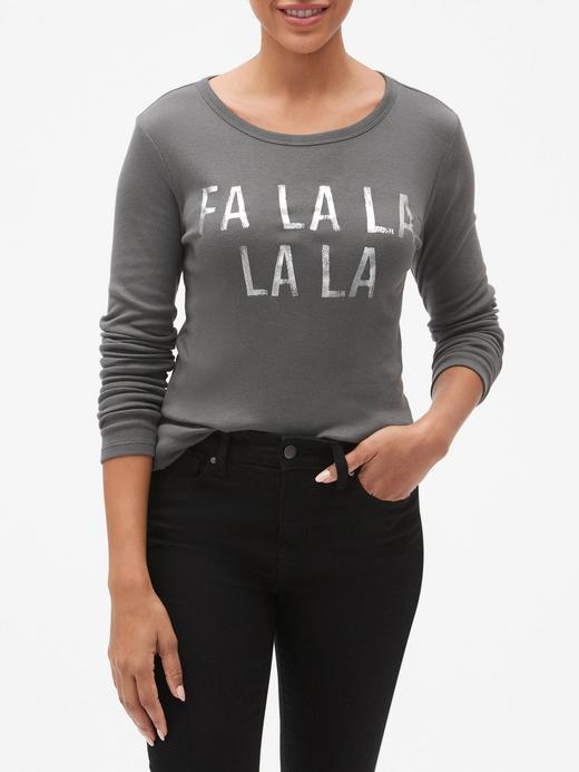 Baskılı Uzun Kollu Sıfır Yaka T-Shirt