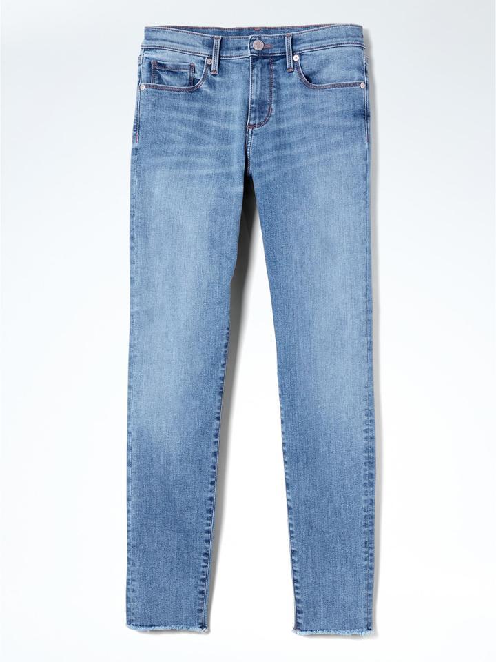 Kadın açık renk yıkama Skinny Kesim Açık Mavi Pantolon