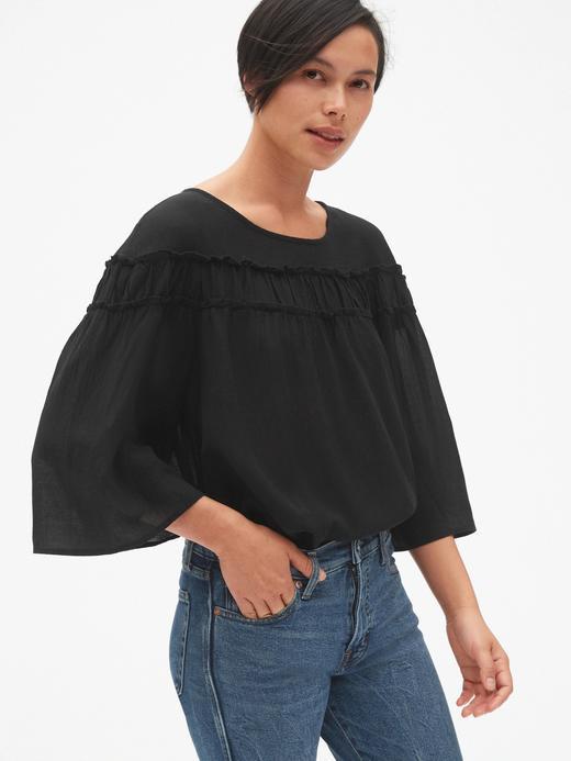 Fırıfır Detaylı Bluz