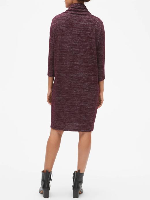 Softspun Uzun Kollu Şal Yaka Elbise