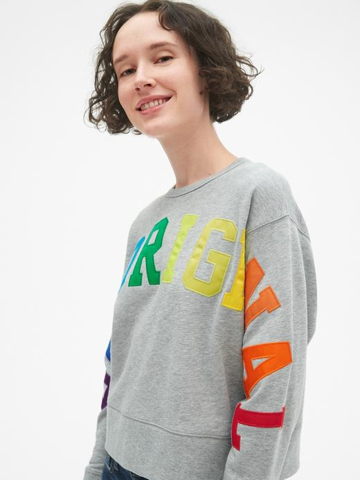 Gap Originals Logolu Havlu Kumaşı Sweatshirt