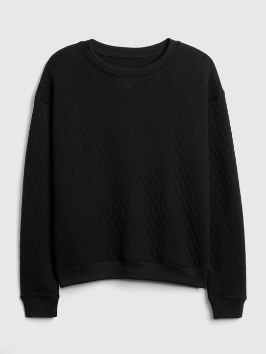 Kapitone Havlu Kumaşı Sweatshirt