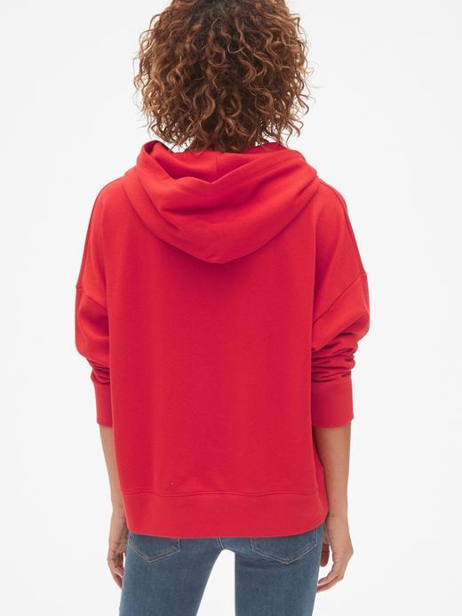 Bol Kesim Logolu Havlu Kumaşı Sweatshirt