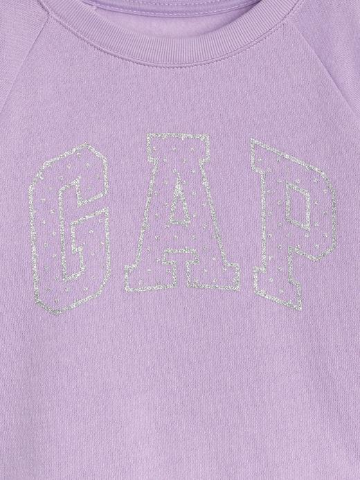 Metalik Pırıltılı Logolu Sweatshirt