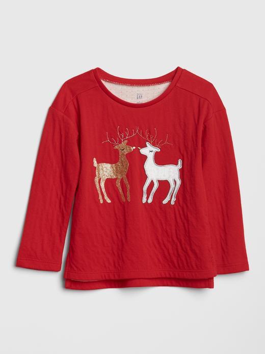 Bebek Kırmızı Baskılı T-Shirt