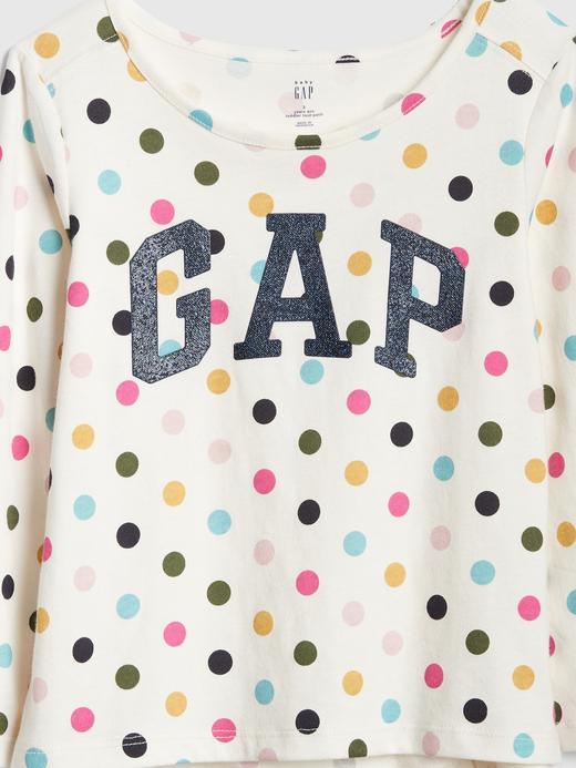 Pırıltılı Logolu Uzun Kollu T-Shirt