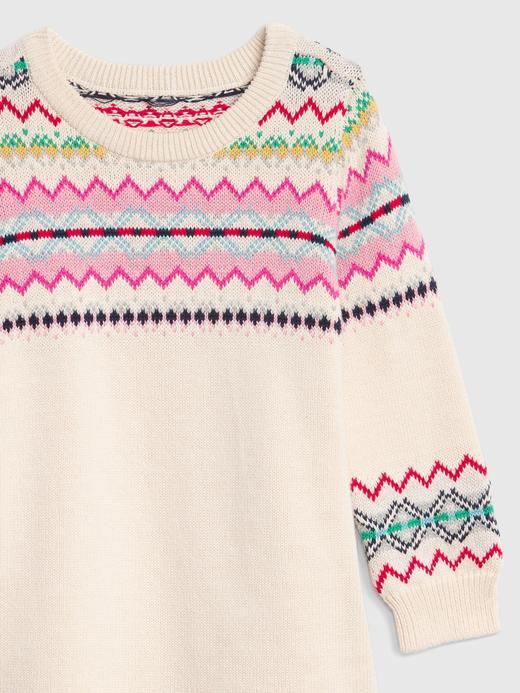 Fair Isle Desenli Kazak Elbise