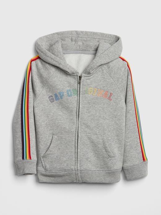 Logolu Renkli Çizgili Sweatshirt
