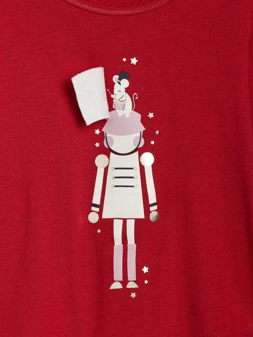 Bebek kırmızı 3D Baskılı Uzun Kollu T-Shirt