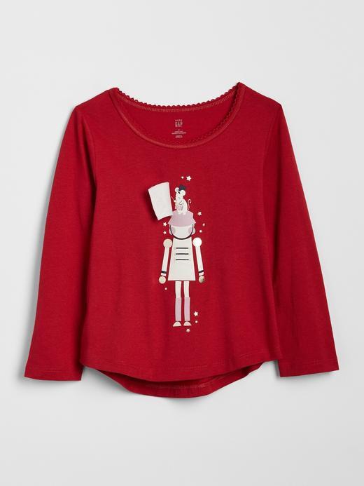 3D Baskılı Uzun Kollu T-Shirt