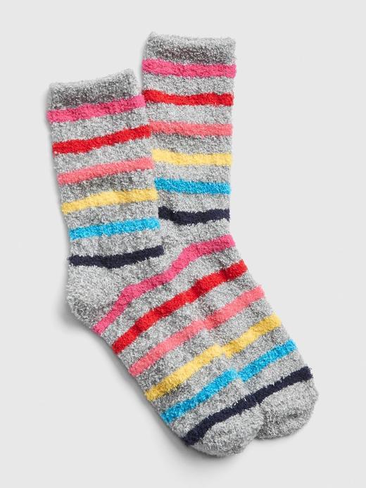 Yumuşak Dokulu Renkli Çizgili Çorap