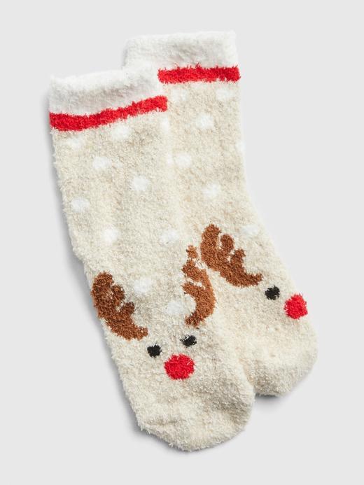 Yumuşak Dokulu Geyik Desenli Çorap