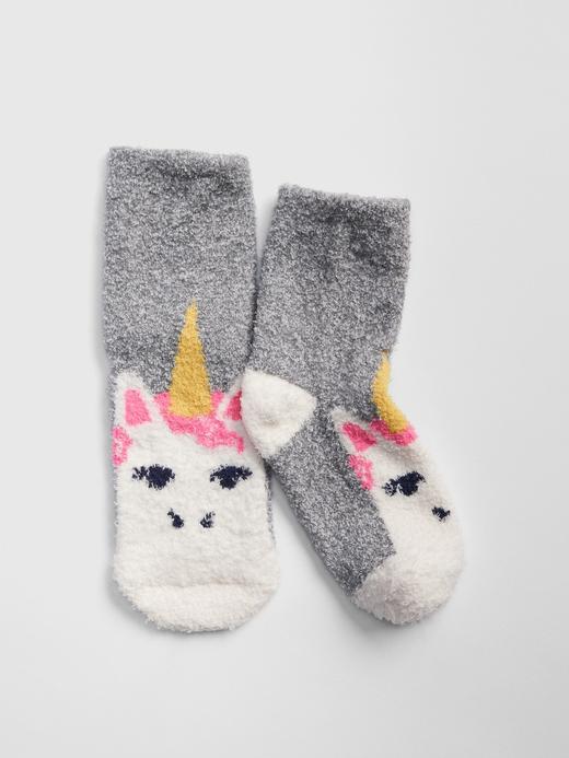 Yumuşak Dokulu Unicorn Desenli Çorap