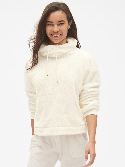 Boğazlı Sherpa Sweatshirt