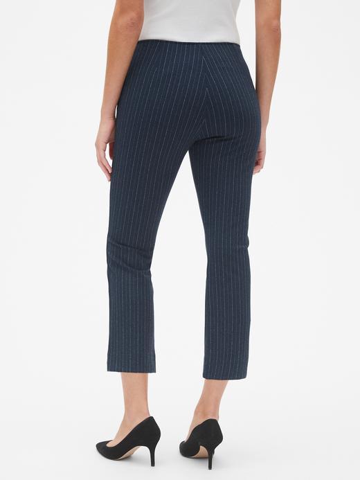 Yüksek Belli Çizgili Pantolon