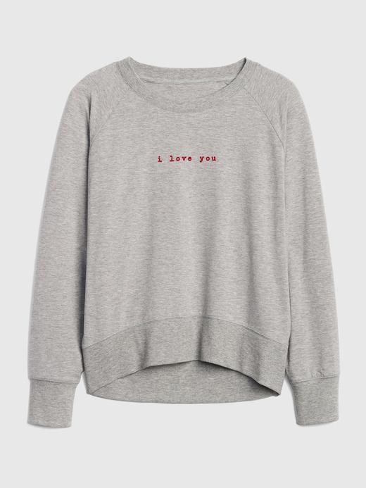 Baskılı Reglan Kollu Sweatshirt