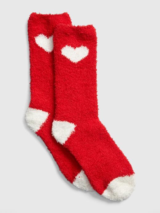 Kadın Kırmızı Yumuşak Dokulu Çorap