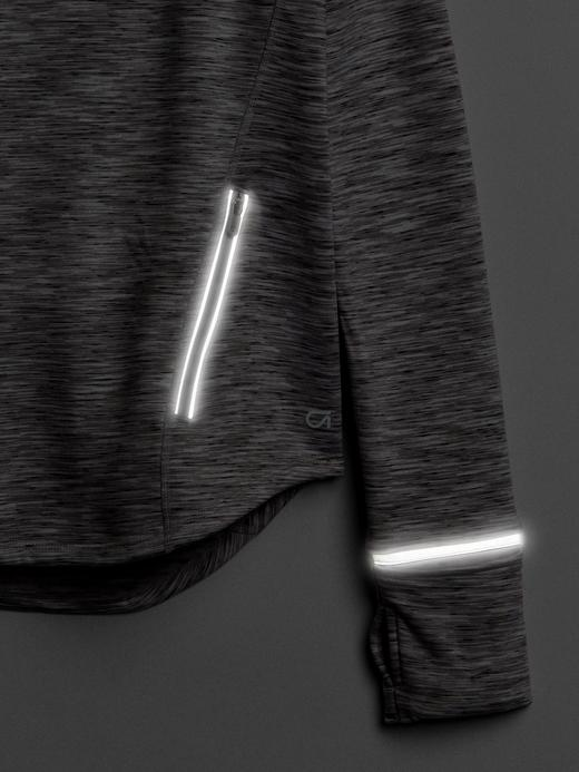 gri GapFit Orbital Kapüşonlu Sweatshirt