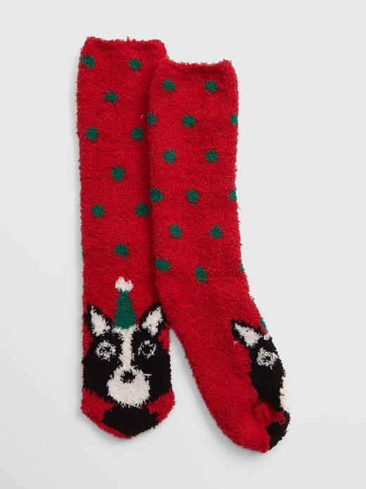 Yumuşak Dokulu Desenli Çorap