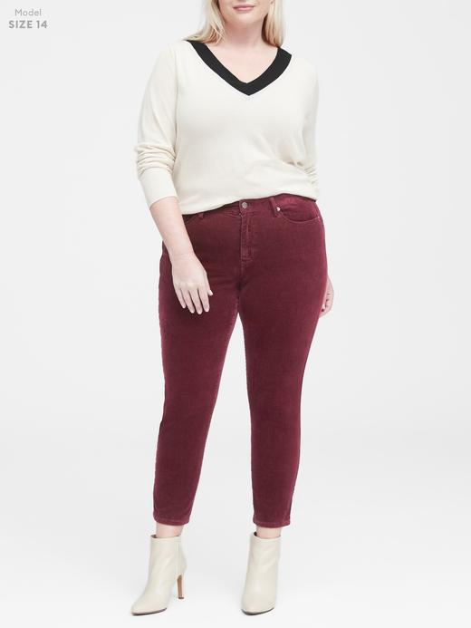 Kadın pembe Kadife Skinny Pantolon