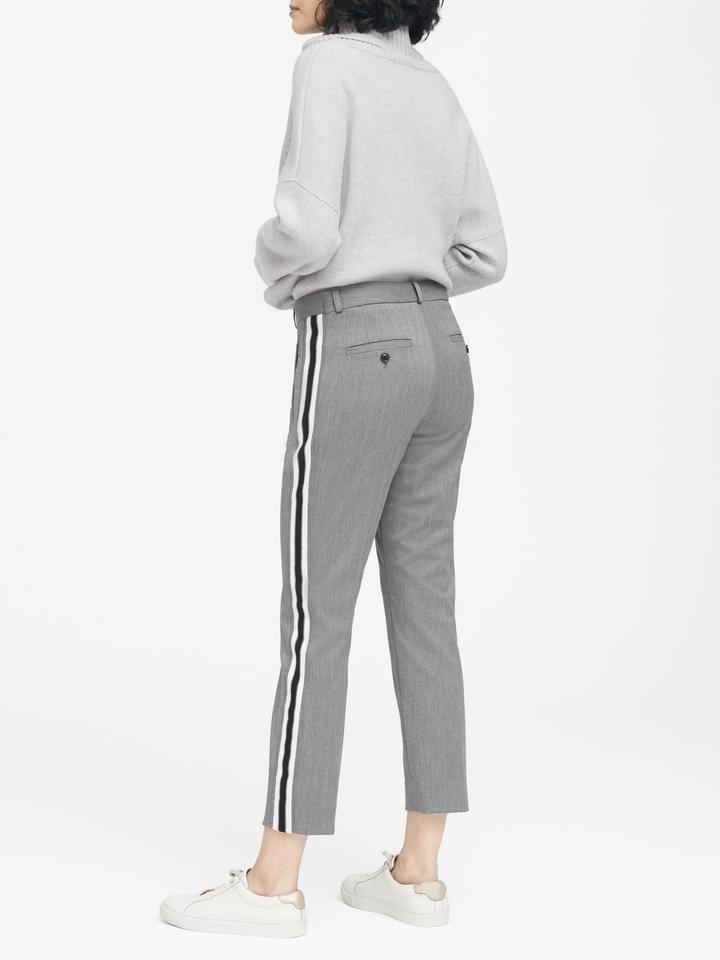 Avery Straight-Fit Yanları Çizgili Bilek Hizasında Pantolon