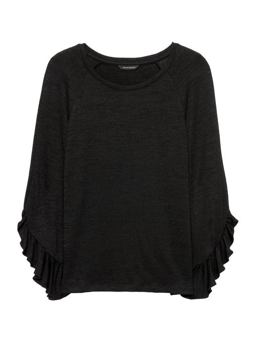 Luxespun Fırfır Kollu T-Shirt