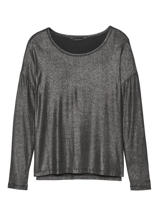 Kadın siyah Yumuşak Dokulu Uzun Kollu Streç T-Shirt