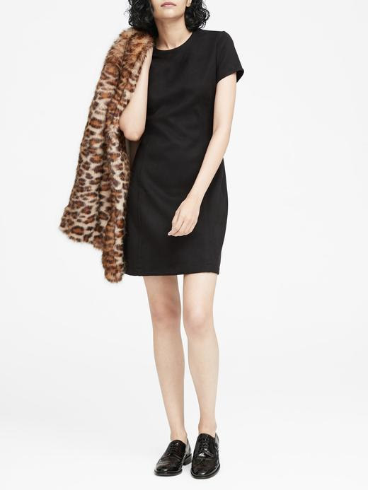 Streç Vegan Süet Mini Elbise