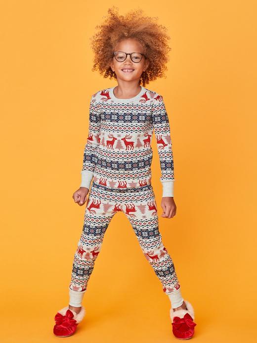 Fair Isle Desenli Pijama Takımı