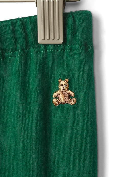 Bebek Lacivert Ayıcık İşlemeli Eşofman Altı