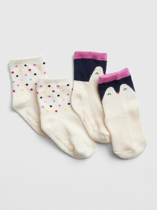 2'li Penguen Desenli Çorap
