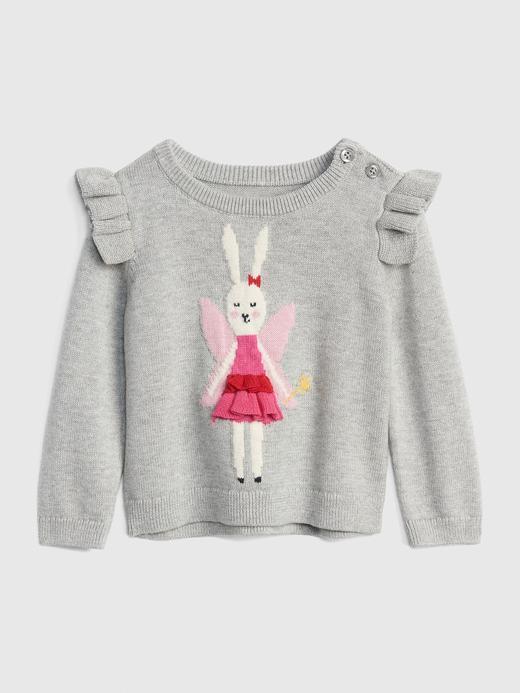 Peri Tavşan Desenli Kazak