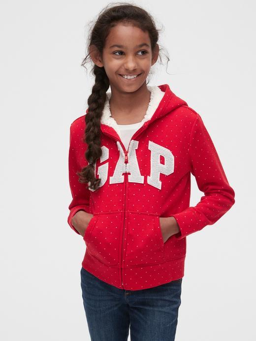 Gap Logo Puantiyeli Sharpa Astarlı Sweatshirt
