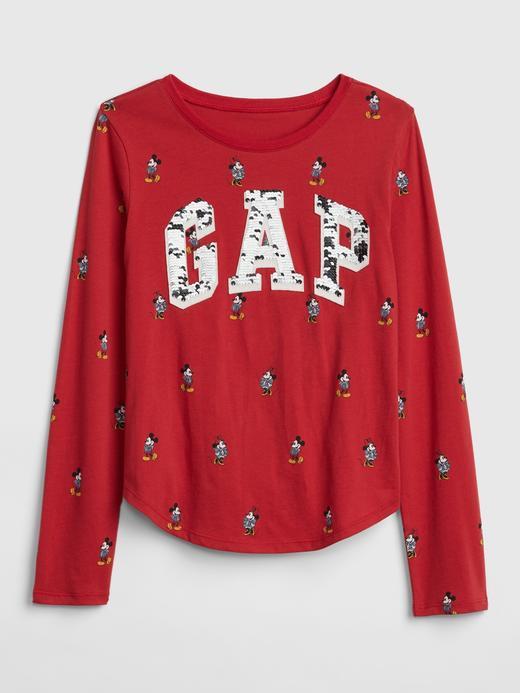 GapKids | Disney Mickey Mouse Değişen Pullu Logolu T-Shirt