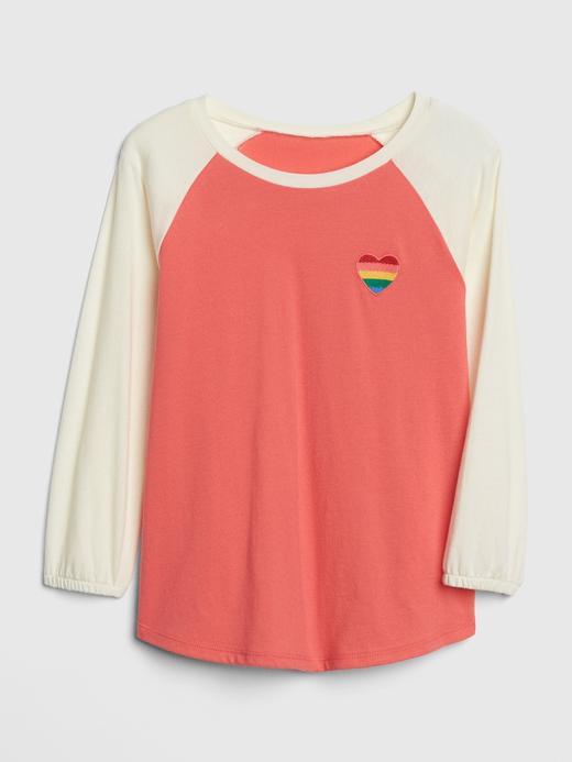 İşlemeli Uzun Kollu T-Shirt