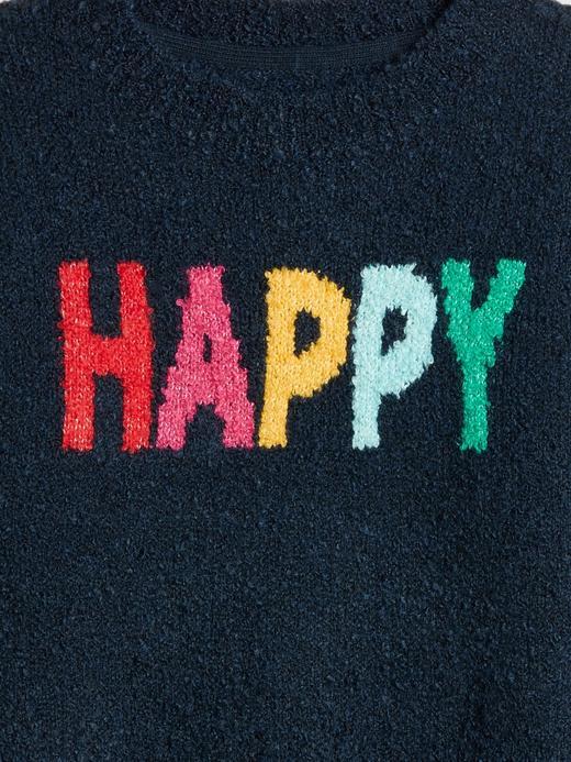 Happy Desenli Sıfır Yaka Kazak