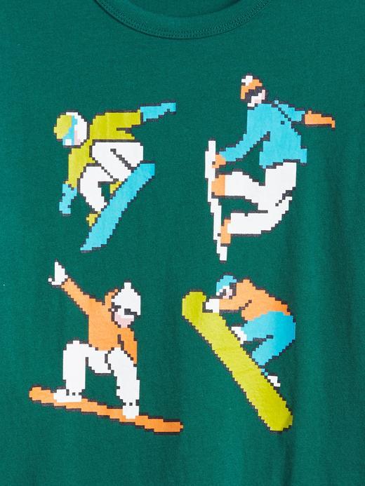 Erkek Çocuk gri Baskılı Uzun Kollu T-Shirt