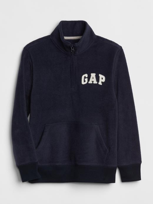 Logolu Yarım Fermuarlı Sweatshirt