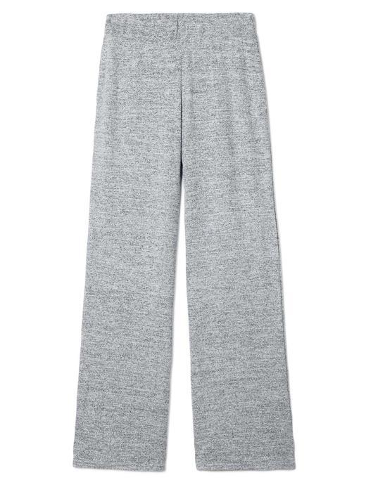 Kadın gri Softspun wide leg elastik belli pantolon