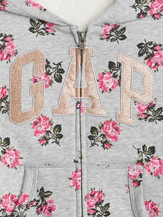 Logolu Çiçek Desenli Sweatshirt