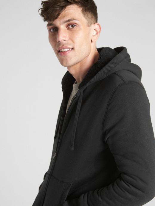 Sherpa Astarlı Fermuarlı Sweatshirt