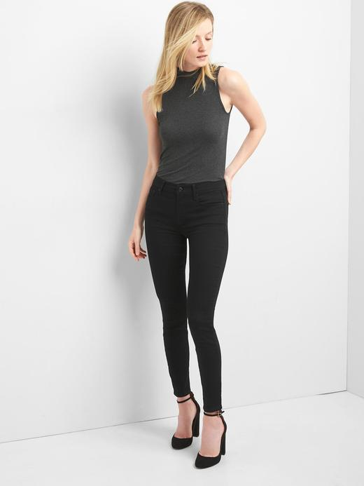 Kadın Siyah Orta Belli True Skinny Jean Pantolon