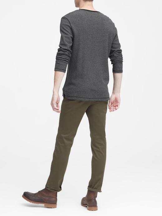 Uzun Kollu Henley T-Shirt