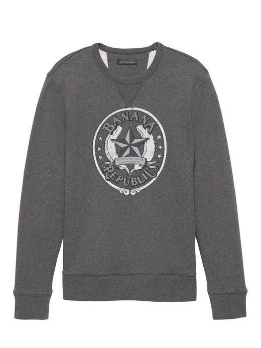 Havlu Kumaşı Logolu Sweatshirt