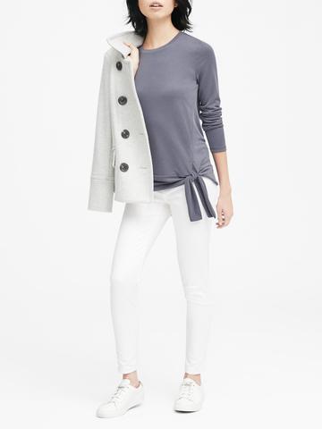 Kadın beyaz Modal Karışımlı T-Shirt