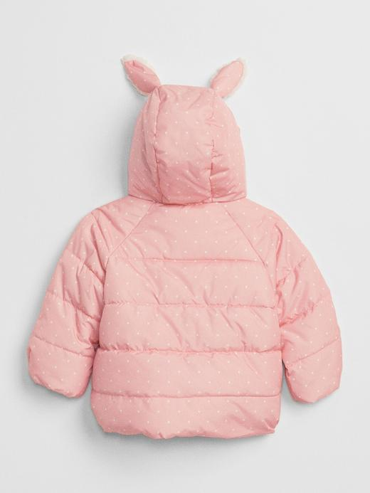 Bebek buz pembesi ColdControl Tavşan Kapüşonlu Pufa Mont