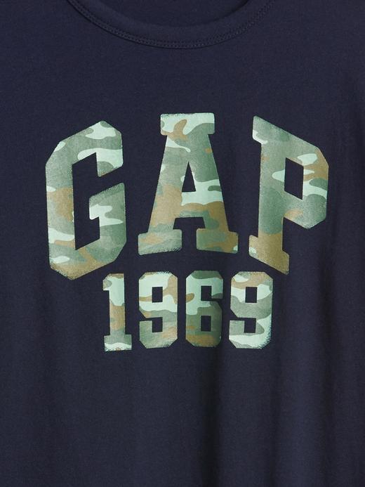 Kamuflaj Logolu Uzun Kollu T-Shirt