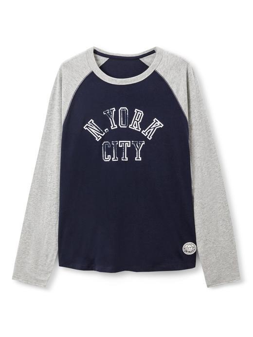 NYC Desenli Uzun Kollu T-Shirt