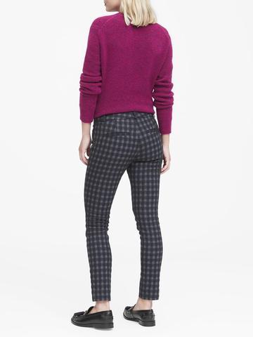 Kadın lacivert Sloan Skinny-Fit Ekose Pantolon